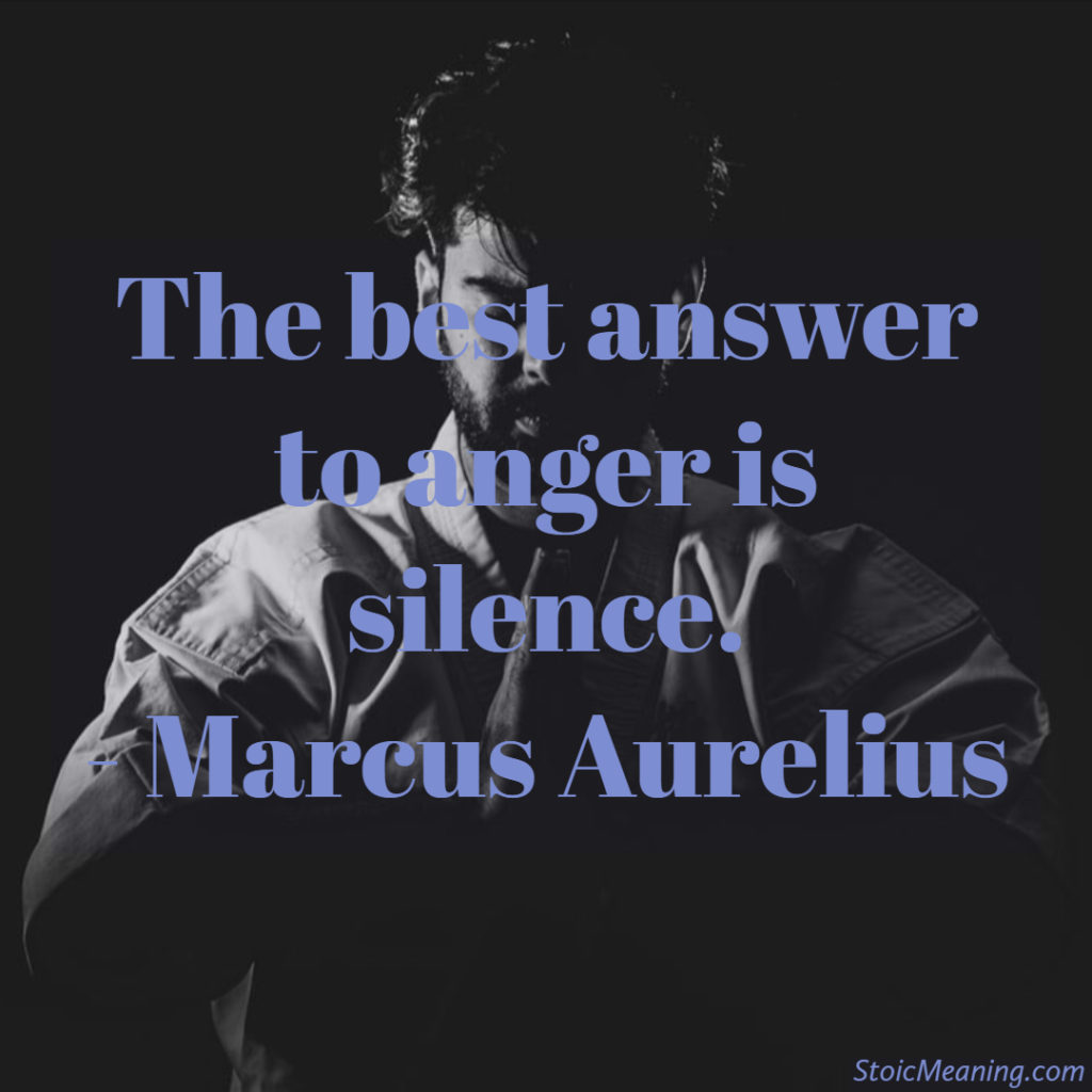 The best answer to anger is silence.