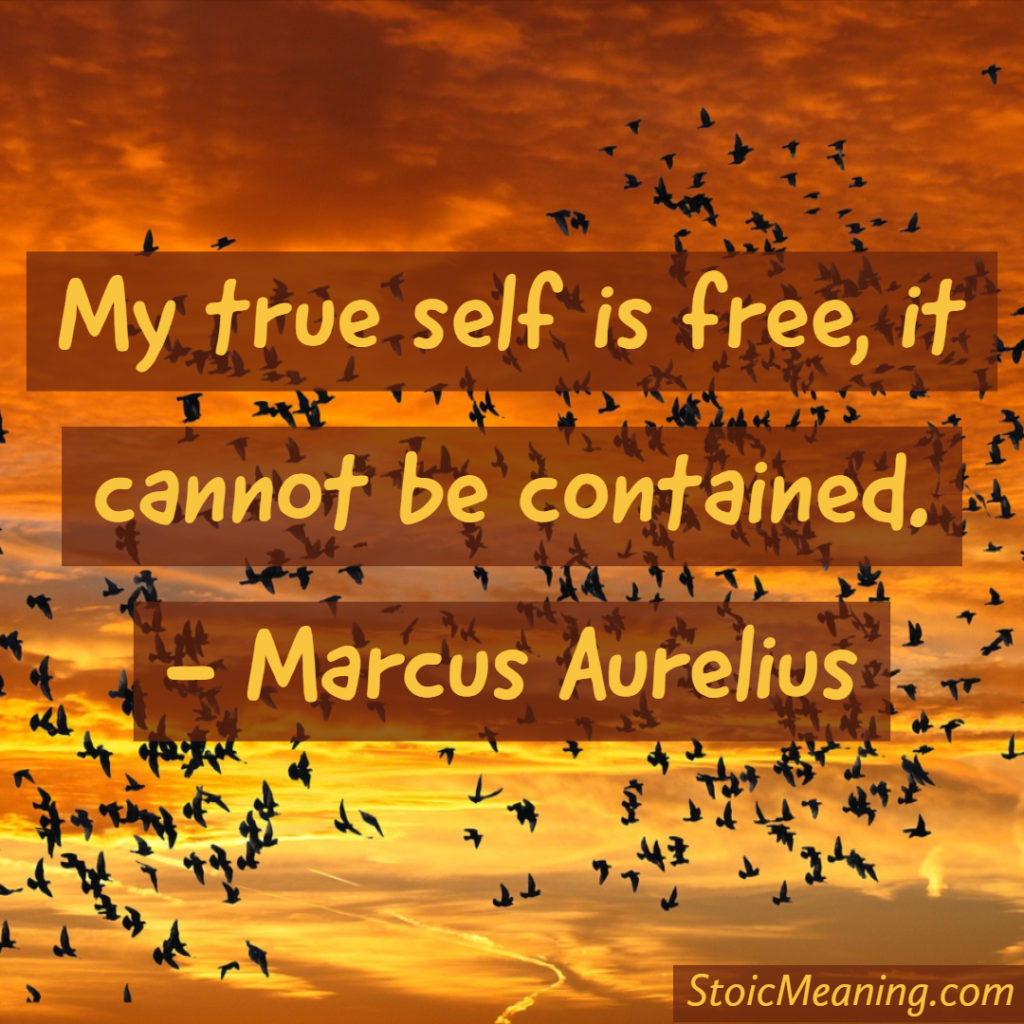 My true self is free, it cannot be contained.