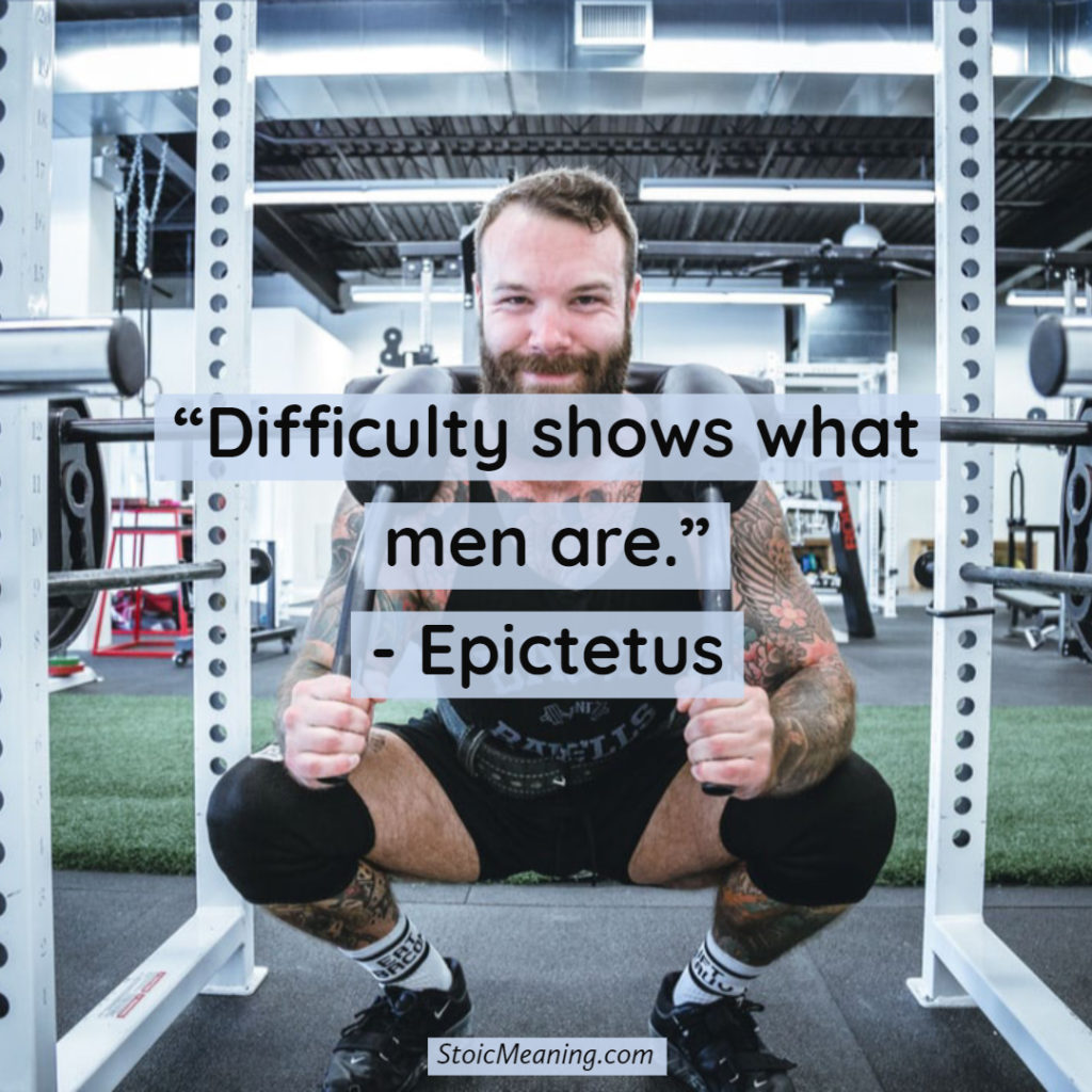 Difficulty shows what men are.